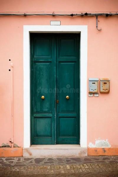 Colorful Doors Of Burano Island, Venice, Italy Stock Image ...