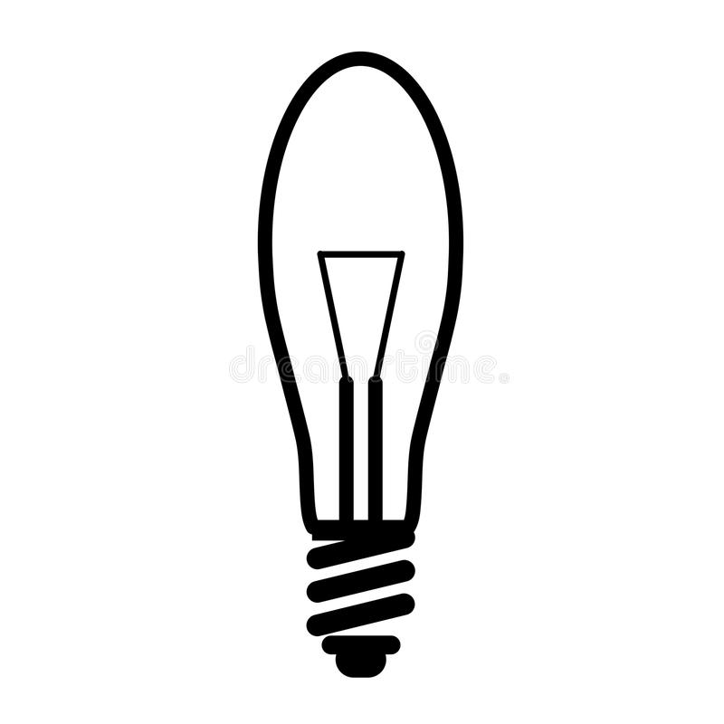 Electric Creative Light Bulb Stock Illustration