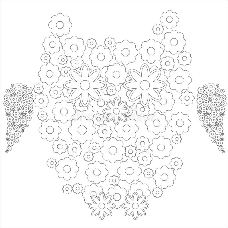 Coloring Book For Adult And Older Children. Coloring Page