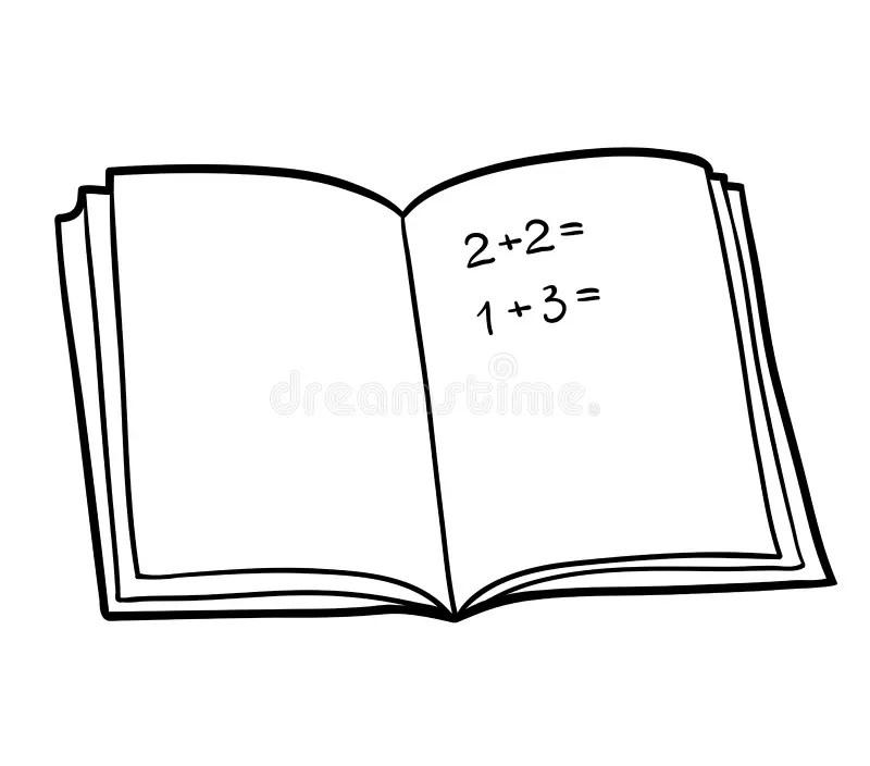 Math Book II stock vector. Illustration of book, study