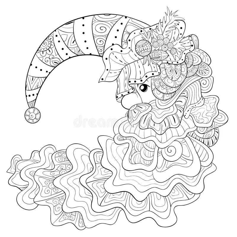 Doodle Moon For Children Design Stock Vector