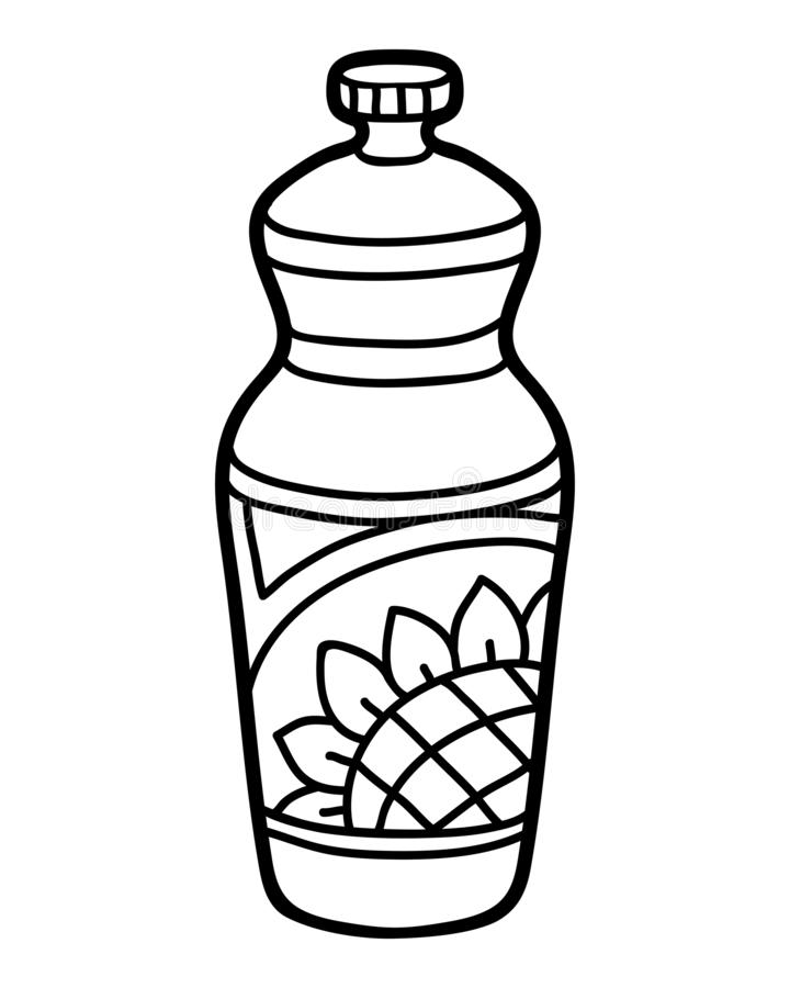 Coloring Book, Sunflower Oil In Plastic Bottle Stock