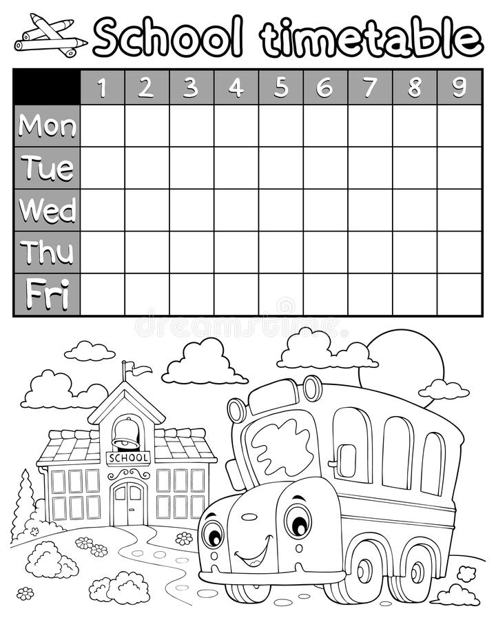 Bus Time Table Stock Illustrations