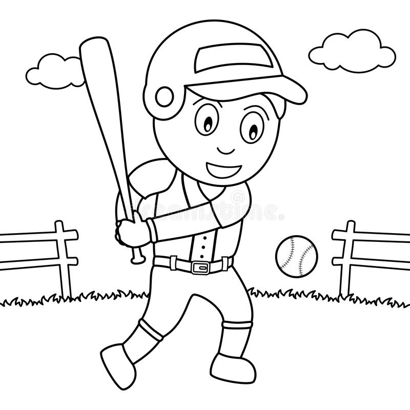 Coloring Cute Mailbox Character With Letter Stock Vector