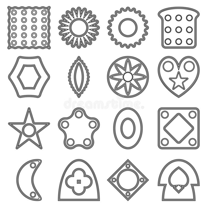 Collection Of Page Dividers And Ornate Headpieces Stock