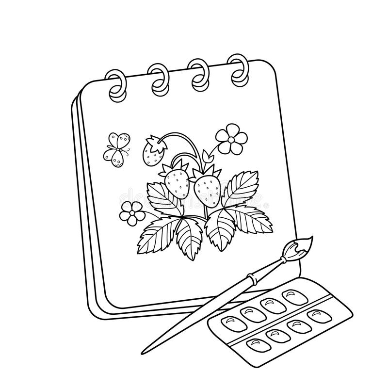 Coloring Page Outline Of Cartoon Album Or Sketchbook With