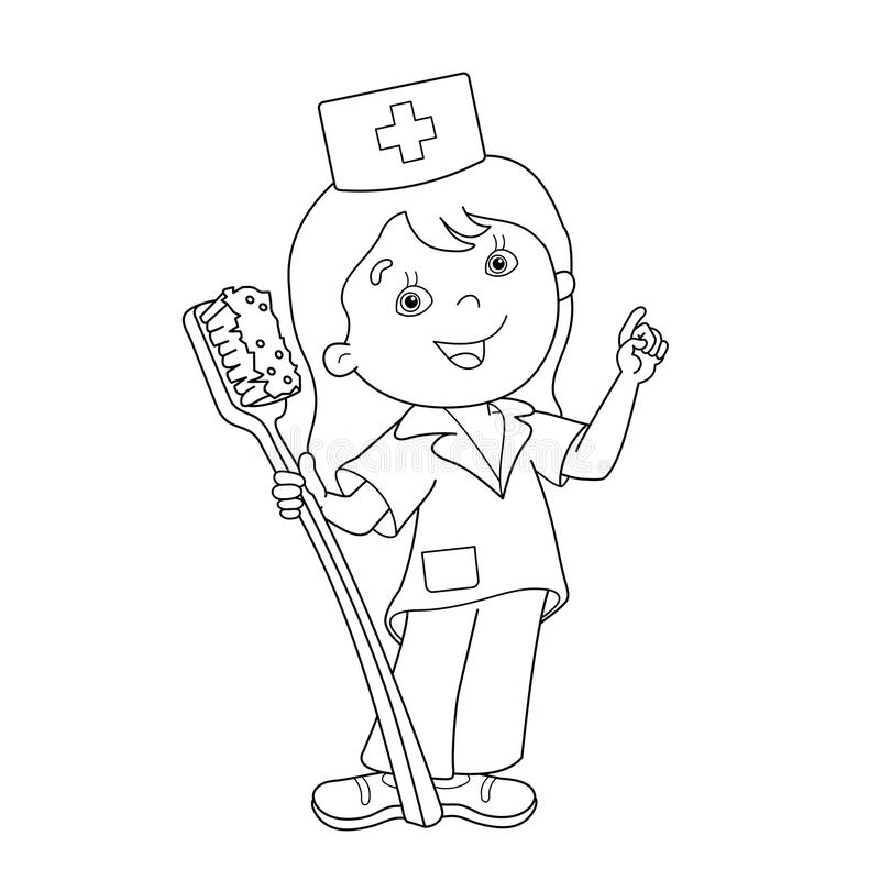 Nurse Coloring Stock Illustrations