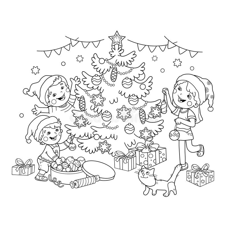 Christmas Tree Decorations Drawing At Getdrawings Com