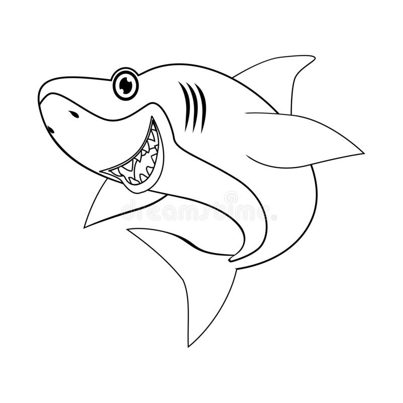Coloring Page Of Shark Stock Vector Illustration Of Coloring 172046567