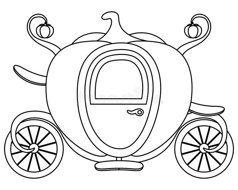 Coloring Pumpkin Cinderella's Carriage Stock Vector