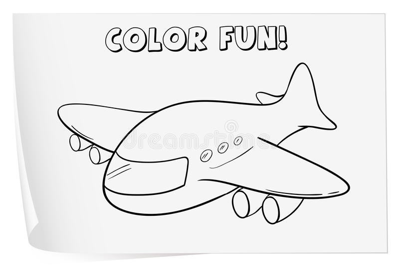 Coloring worksheet stock vector. Illustration of