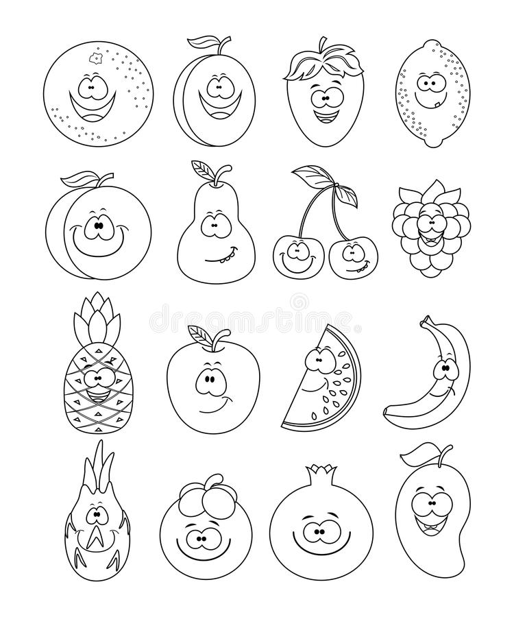 Berry. Drawing worksheet. stock vector. Illustration of