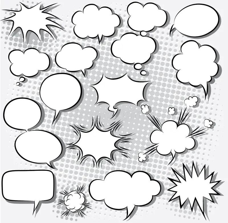 Comic speech bubbles stock vector. Illustration of