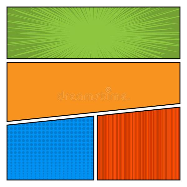 Comic Book Layout Template Color