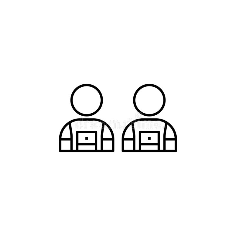 3 Member Team Icons stock vector. Illustration of people