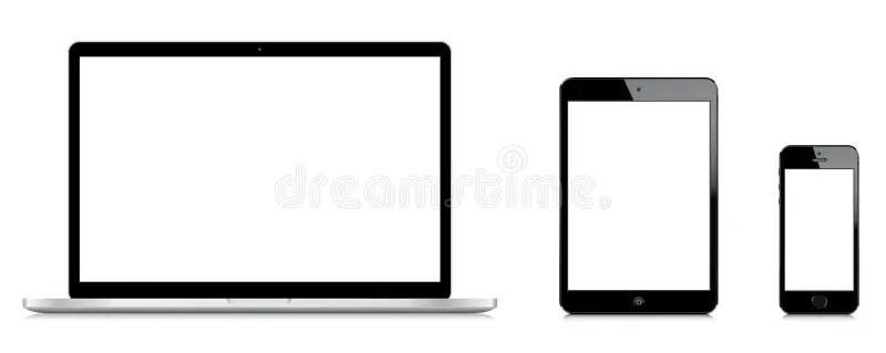 Comparison Of Macbook Pro IPad Mini And IPhone 5s