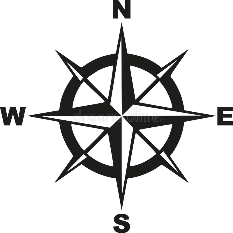 Compass With North South East West Stock Vector - Illustration of west. travel: 107160743