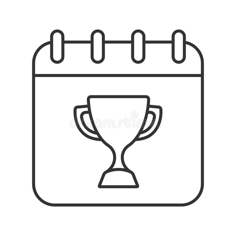 Baseball Tournament Date Linear Icon Stock Vector