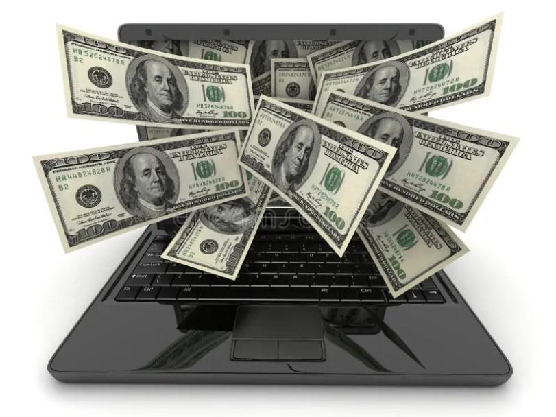 Resultado de imagen para dinero y computadoras