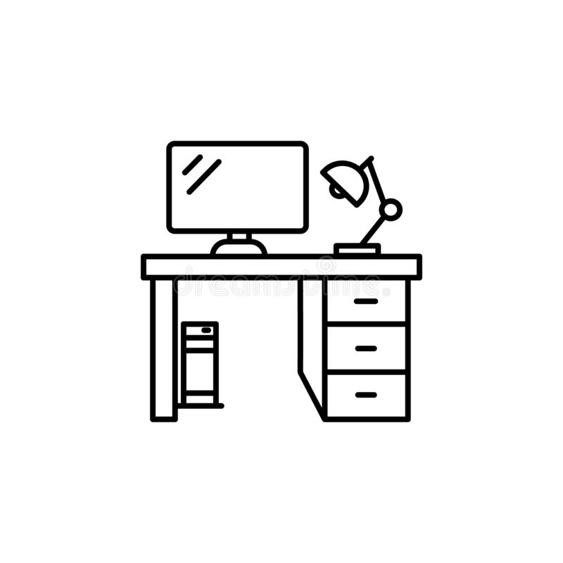 Computer Table Stock Illustrations
