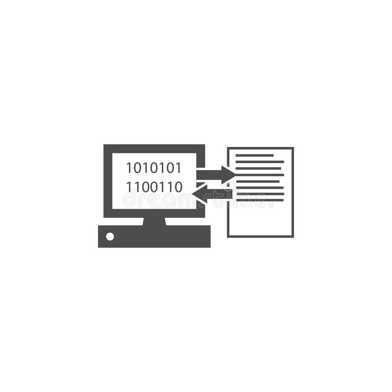 Computer And Document On Sheet Icon. Elements Of Web In