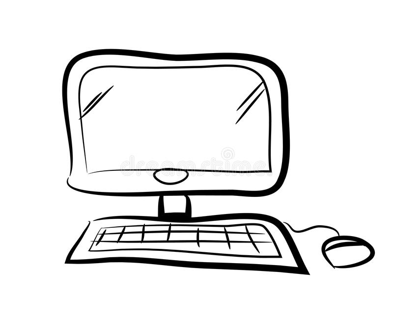 Computer Doodle stock vector. Illustration of computer