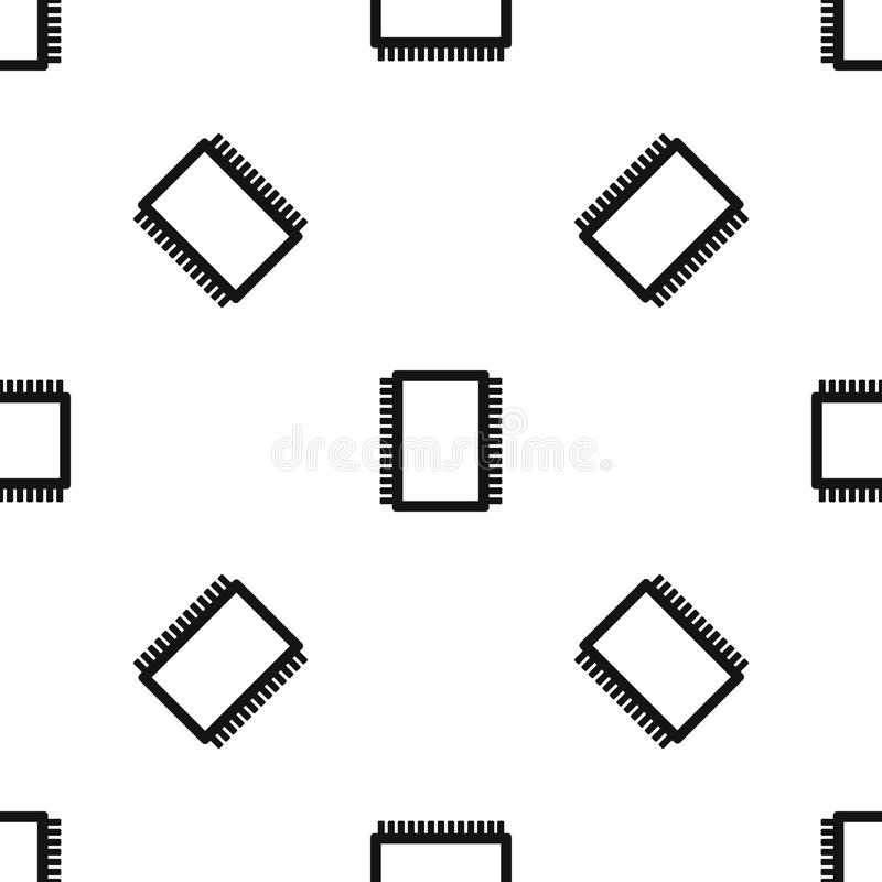 circuit board seamless pattern stock vector