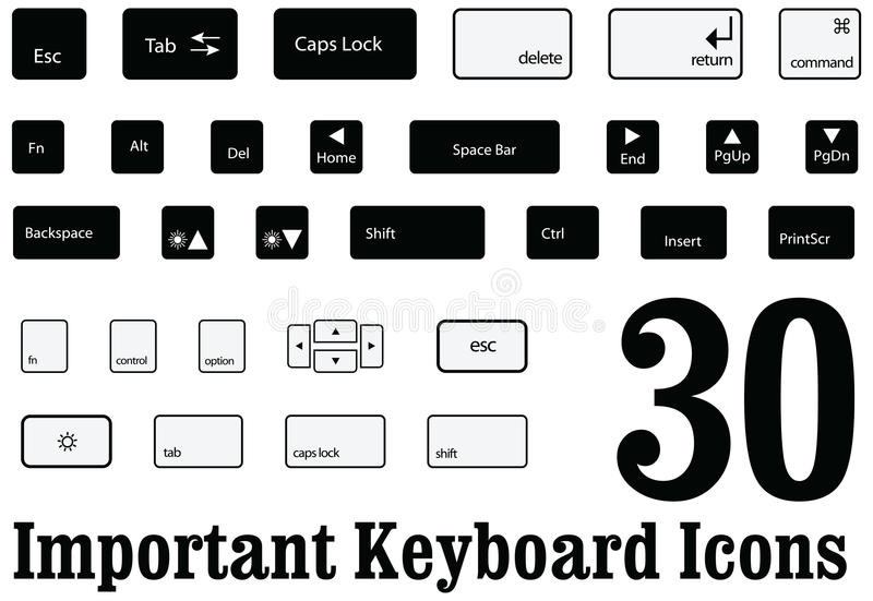 Computer Escape Key / Isolated Stock Illustration