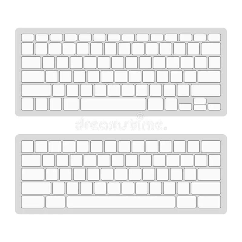 Computer Keyboard Blank Template Set. Vector Stock Vector