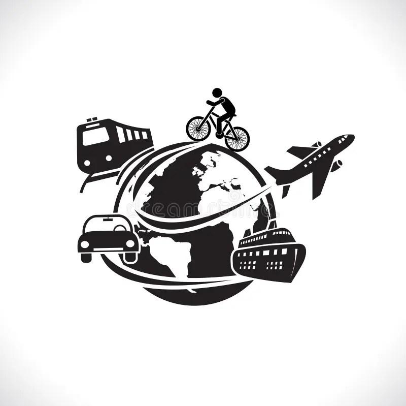 Concept De Symbole De Voyage Et De Transport Du Monde