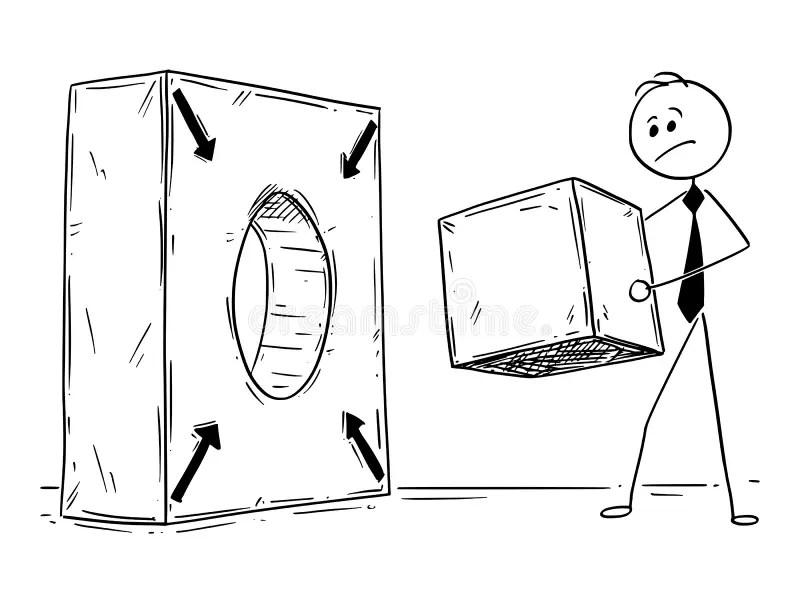 Conceptual Cartoon Of Problem Solving Stock Vector