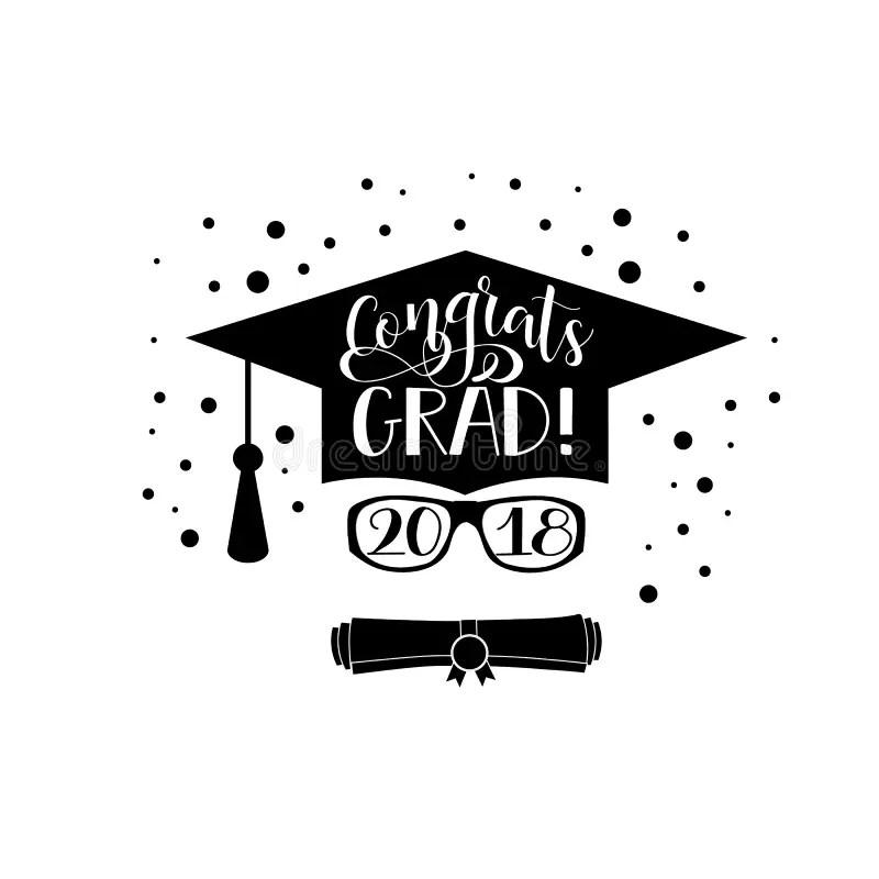 Congrats Grad 2018 Lettering. Congratulations Graduate
