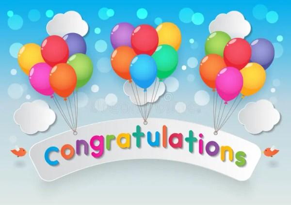 congratulations balloons stock