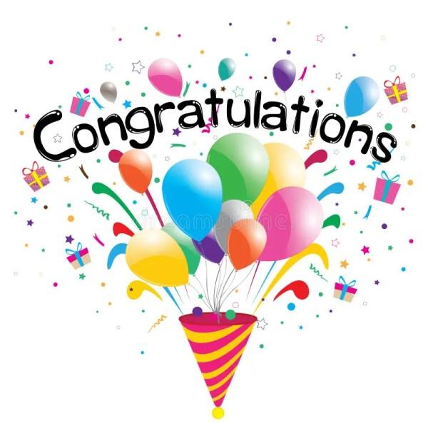 congratulations party white