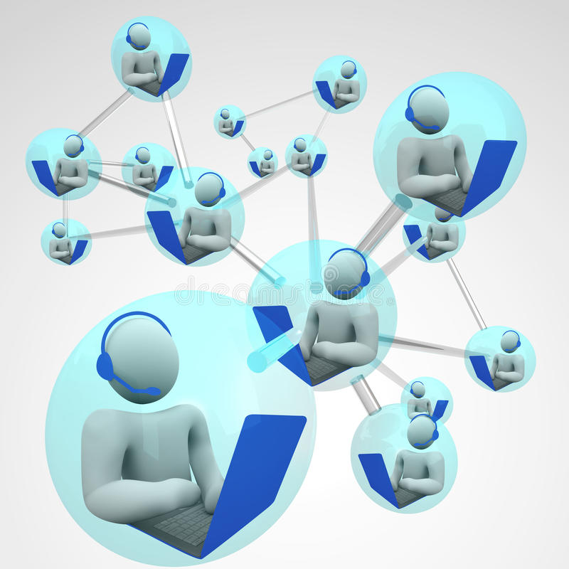 Connected Computer Communication Linked Networking Stock ...