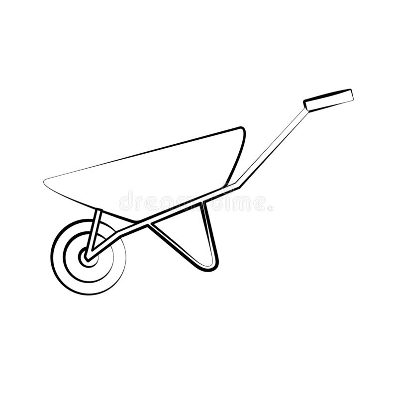 Manual trolley lifter stock vector. Illustration of hand