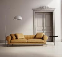 Contemporary Classic Living Room, Beige Leather Sofa Stock ...