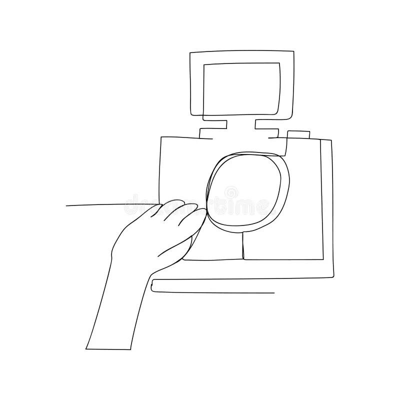 Contour Camera Drawing stock illustration. Illustration of