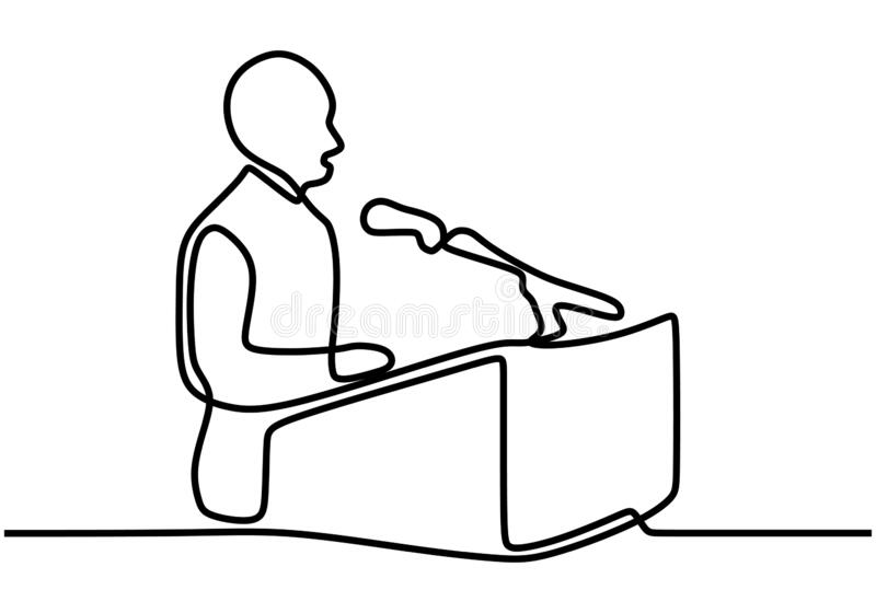 Podium Politician Stock Illustrations