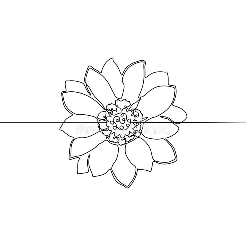 flower continuous one line