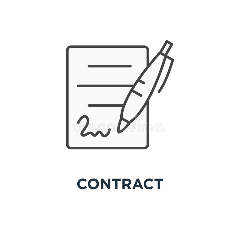Legal documents concept stock illustration. Illustration