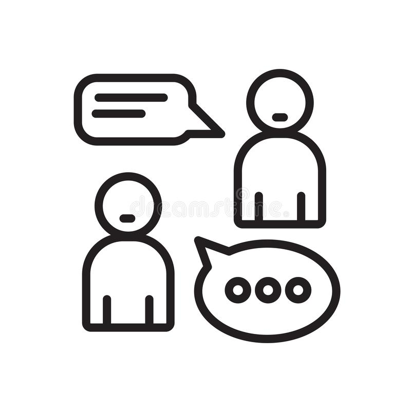 Student And Dialogue Line And Glyph Icon. Speech Bubble