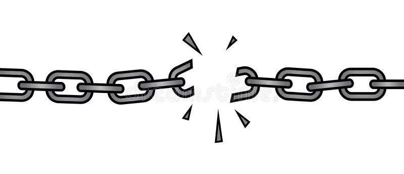 Corrente quebrada ilustração do vetor. Ilustração de