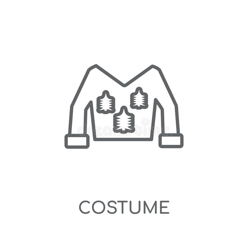 Kids In Costumes Set Coloring Page Stock Vector