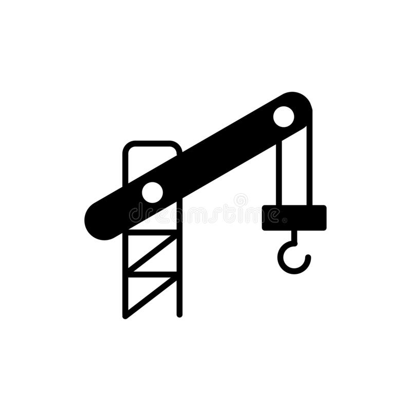 Crane Icon Stock Illustrations