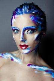 creative art makeup of young