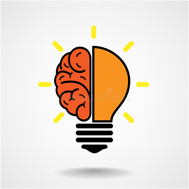 Creative Brain Idea Concept Background Stock Images