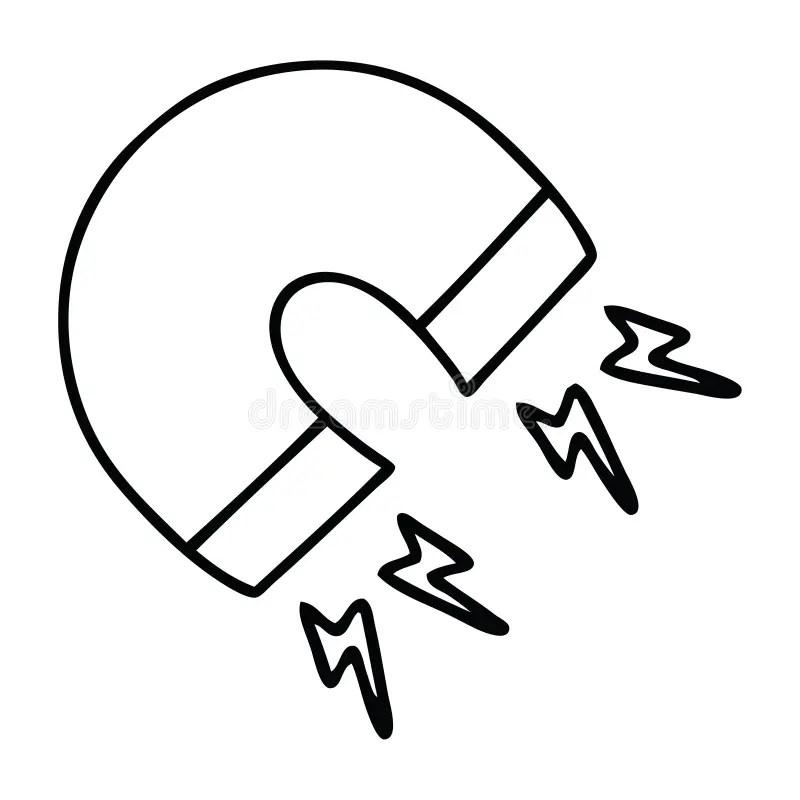 Magnet Science Magnetic Force Magnetism Cute Illustration
