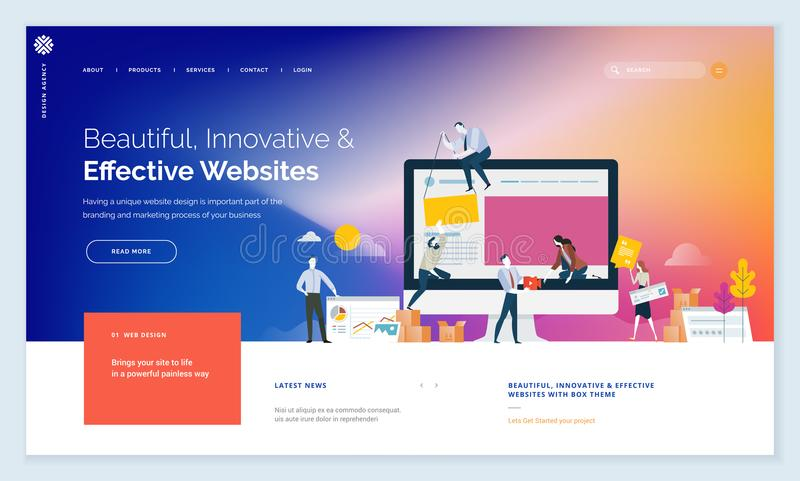 Whether you create a beautiful template, you get features suitable for a blog, an agency blog, an online store, personal portfolio, travel, real estate templates that you can export as html wordpress theme. Creative Website Template Design Stock Vector Illustration Of Development Icon 114087334