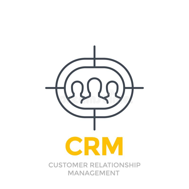 CRM, Customer Relationship Management Icon Stock Vector